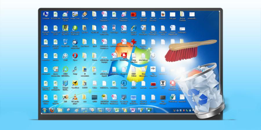 ترفند افزایش سرعت ویندوز با تمیز کردن صفحه دسکتاپ